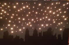 Light Up Cityscape Canvas by ADreamersHome on Etsy More