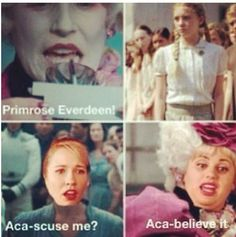 Haha pitch perfect and hunger games lol