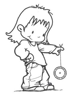 girl with yoyo National Holidays, Smurfs, Diy And Crafts, Snoopy, Clip Art, Drawings, Creative, Anime, Cards