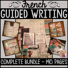 This French Guided Writing Package includes everything you need to set up your Guided Writing Program in a most Primary and Junior French Immersion classroom (Grades 2-6). The package includes a variety of activities and templates that can easily be adapted for Grades 2-6. French Teaching Resources, Teaching French, Core French, Writing Programs, French Teacher, French Immersion, Vocabulary Cards, Blank Cards, Classroom