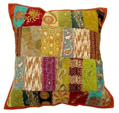 Indian tapestry pillow