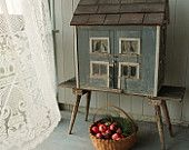 Antique Hand Made Federal Style Farmhouse Dollhouse - Original image and details unavailable