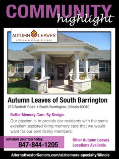 Autumn Leaves communities offer engaging programs specifically designed to enhance residents' quality of life. Experience Memory Care With a Purpose, call today.