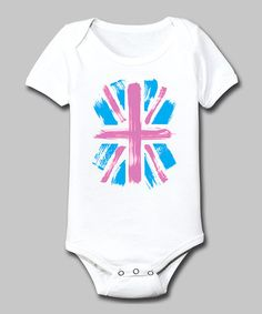 Take a look at this White Union Jack Bodysuit - Infant by Celebration Station on #zulily today!