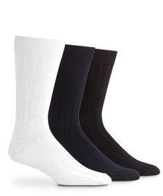 Mens Master Everyday Gray Long Mid Calf Crew Socks 4 Pack Size: 10-13