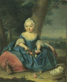 Empress Maria Theresa of Austria (as a young child) mother of Marie Antoinette