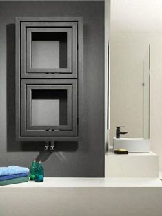 Grace towel radiator: a modern bathroom radiator. The contemporary style and clean lines mean that this heated towel rail can be the hotspot in your bathroom for a long time. Contemporary Radiators, Modern Towels, Modern Bathroom, Bathrooms Remodel, Bathroom Renovation, Bathroom Design, White Bathroom Tiles, Towel Radiator, Black And White Tiles