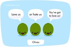 Olive joke - Cute Fruit Kawaii Cartoon