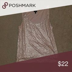 Light Pink sequins tank Light pink tank. Great condition. Really sparkles. Make a reasonable offer! Talbots Tops Tank Tops