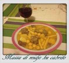 massa de midju cu cabrito(Santiago); cabrito cu totoco (Fogo).   Cabo Verde - Musicas Antigas