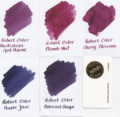 Robert Oster Signature ink, displayed by fountainfeder.eu
