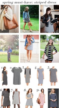 spring must-have: striped dress!