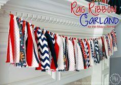 4th of July Rag Ribbon Garland - The Ribbon Retreat Blog