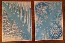 4 Glitter Window Corner Cling Sticker Snowflake Icicle Christmas Tree Decoration