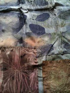"artpropelled: "" cloudland INDIA FLINT work in progess (by "" Textile Dyeing, Textile Fiber Art, Textile Artists, Dyeing Fabric, Fibre Art, Shibori, Fabric Yarn, How To Dye Fabric, Textiles"