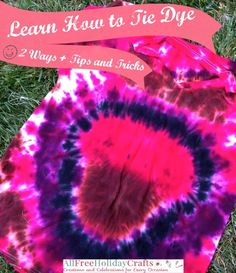 Learn How to Tie Dye with Different Tie Dye Techniques | AllFreeHolidayCrafts.com