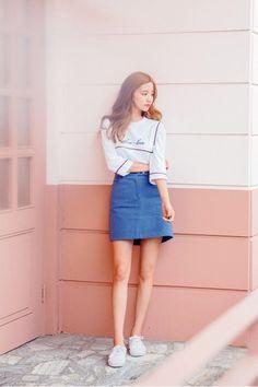 Basic Line Basic Skirt | Korean Fashion