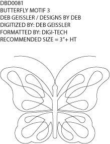 Butterfly Block by Deb Geissler / Designs by Deb DBD0081 PR
