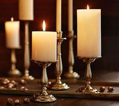 Arlington Pillar Candleholder #potterybarn