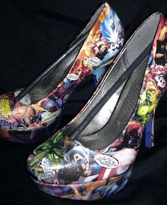"@Hailey Coulson...avengers high heels. I think you will be saying ""OMG i want these!"""
