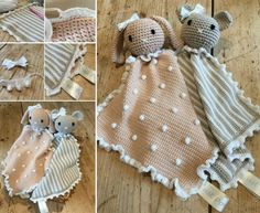 Animal Taggie Blankets Free Pattern