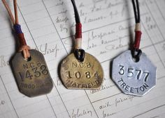 Metal Unique ID tag? Could come with chain to turn into dog tag necklace? Swing Tags, Bijoux Diy, Printing Labels, Mans World, Metal Necklaces, Stylish Men, Mood, Cool Stuff, Stuff To Buy