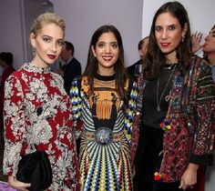 Sabine Getty, Noor Fares and Tatiana Santo Domingo