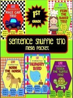 This is a great activity for those early finishers. It can be set up as a center or a file folder activity. Sentence Shuffle Trio: r controlled vowel bundle. Reading level: 1st grade - paid