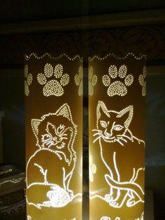 luminaria gatos