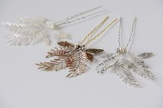 These pretty little hair pins have delicate glass beaded leaves and strands of bugle beads wired into the shape of fragile ferns and look beautiful tucked into your hair. I have used tiny Miyuki Delica seed beads to weave the little leaves and sparkly glass Toho bugle beads to wire into the shape of ferns. …