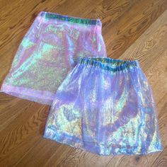 """studdedpetals: """"made these holographic skirts wahey """""""