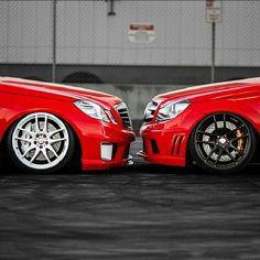 Left or right? #mercedes #benz #mb #slammed #stanced #fitment #illest #hellaflush #twinning #carporn #love #jj #instagood #igers #xsauto #bornauto #xenonsupply