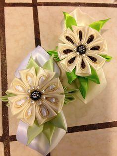 Very detailed Kanzashi flower. Made by Irma Louisa.