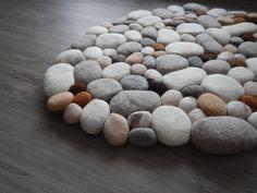 Filzsteinteppich supersoft multicolor von flussdesign auf Etsy