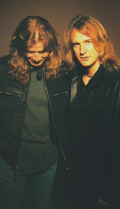 Dave Mustaine and David Ellefson (August/2001/BURRN)