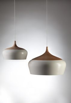 Tongue and Groove | white pendant light
