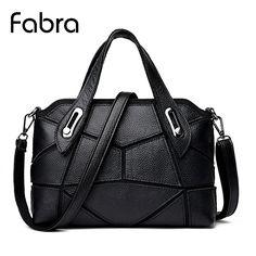 28.49$  Watch now - http://aliyuf.shopchina.info/go.php?t=32786545074 - Fabra Fashion Women Messenger Bags Real Split Leather Bag Tote Handbag Casual Small Crossbody Shoulder Bag black 27*10*19 CM 28.49$ #bestbuy