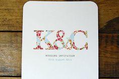 Love this simple but effective #wedding invitation design x