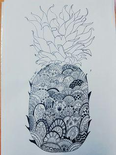 Pineapple pen illustration