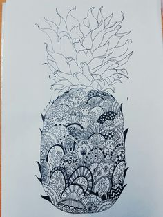 Pineapple pen illustration