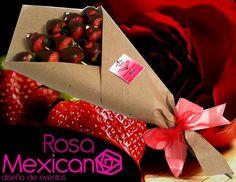 Ramo de fresas, es genial para las mujeres y para los hombres también, siempre has querido darle flores?, esta es una mejor opción!
