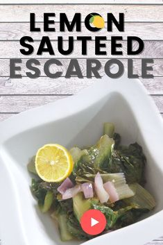 ESCAROLE Simple plant based recipe for WEIGHT LOSS 🇮🇹Sauteed Lemon Escarole🍋Gluten Free Vegan SPICED - This is escarole recipe is a  simple plant based recipe for weight loss and plant based italian recipe.  It is a plant based italian classic!   We all need healthy easy recipes - especially for #lifeasamommy.   SUBSCRIBE and learn life hacks for healthy lifestyle. #spiced#glutenfree#glutenfreerecipes #veganrecipes#lifeasamommy