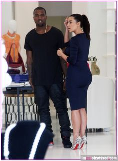kim kardashian and kanye west attend the opening of dash