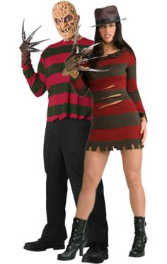 Adult Freddy u0026 Sexy Miss Krueger Combination  sc 1 st  Pinterest : his and hers halloween costumes  - Germanpascual.Com