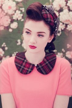 whoa - PLAID!!!! whoda thunk?? how is this for a Peter Pan collar idea???