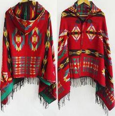 Tribal Poncho With Hood
