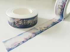 Hong Kong Harbor Washi Tape by GoatGirlMH on Etsy