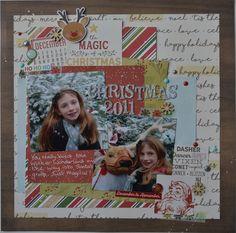 Using November 2016 Lottie Loves Paper kit #scrapbooking #christmaslayout #simplestories