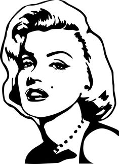 art art girl Marilyn Monroe Coloring Pages Pop Art Marilyn Monroe, Marilyn Monroe Painting, Marilyn Monroe Stencil, Pop Art Tattoos, Tattoo Art, Desenho Pop Art, Gravure Illustration, Pop Art Girl, Black And White Drawing
