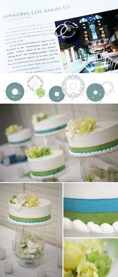 unique wedding cake display